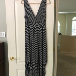 Rolla Coster Black and Grey Striped Sun Dress